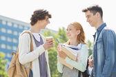 Students having conversation — Stock Photo