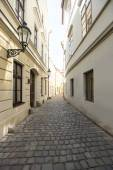 Cobbled alleyway of old city — Stock Photo