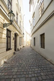Cobbled alleyway of old city — Stok fotoğraf