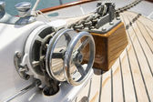 Winch on yacht — Stock Photo
