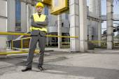 Architect standing with arms crossed — Stock Photo
