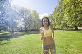 Beautiful fit woman jogging — Foto de Stock