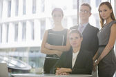 Business team in office cafeteria — Stockfoto