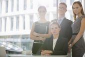 Business team in office cafeteria — Zdjęcie stockowe