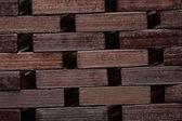 Esteira de madeira marrom — Fotografia Stock