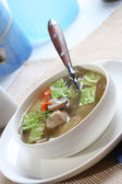 Tasty broth soup — Stock Photo