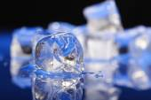 Crystal ice cubes — Stock Photo