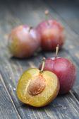 Ameixas frescas doces — Fotografia Stock
