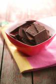 Chocolate cookies in bowl — Stock Photo