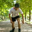 Man riding roller skates — Stock Photo #72092535