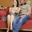 Young couple watching TV — Stock Photo #72093959