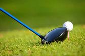 En golfklubba på en golfbana — Stockfoto