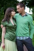 Young couple with arm around — Stock Photo