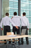 Three  gay businessman — Stock Photo