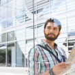 Man holding road map — Stock Photo #75994599