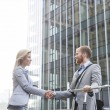 Businesspeople shaking hands — Stock Photo #75997597