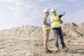 Supervisor examining construction site — Stock Photo