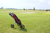 Golf club bag — Stock Photo
