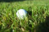 Golf ball on fairway — Stock Photo