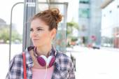 Smiling woman looking away — Stock Photo