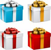 Set of realistic 3d gift boxes. — Vettoriale Stock