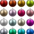 Set of realistic christmas balls. — Vettoriale Stock  #54363205