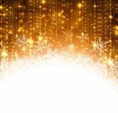 Christmas golden abstract background. — Stock Vector