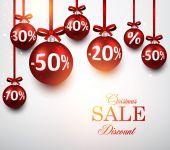 Sale background with christmas balls.  — ストックベクタ