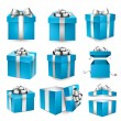 Set of realistic 3d gift boxes. — Stock Vector #54895915