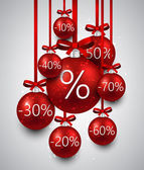 Prodej pozadí s vánoční koule. — Stock vektor