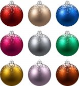 Set of realistic christmas balls. — Stock Vector