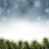 圣诞背景与云杉分支. — 图库矢量图片