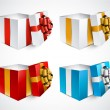 Set of realistic 3d gift boxes. — Stock Vector #56052577