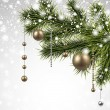 Постер, плакат: Christmas background with spruce branches