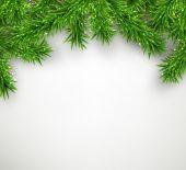 Weihnachten hintergrund mit fichte niederlassungen. — Stockvektor