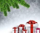 Christmas tree gifts. — Stock Vector