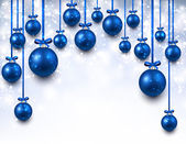 Arc background with blue christmas balls.  — Stock Vector
