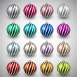 Set of realistic color christmas balls. — Stock Vector #57081913
