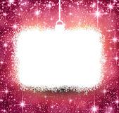 Christmas paper frame on pink background. — Stockvector