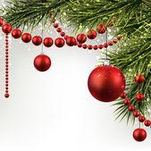 Vánoční pozadí s smrkové větve. — Stock vektor
