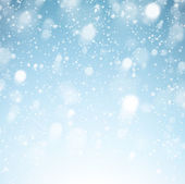 Christmas background with fallen snowflakes. — Stock Vector