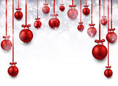 Arc background with red christmas balls.  — Stock vektor