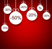 Sale background with christmas balls. — Stock Vector