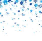 Blue falling snowflakes. — Stockvektor