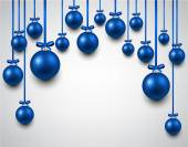 Arc background with blue christmas balls.  — Wektor stockowy