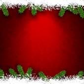 枞树和雪的圣诞帧. — 图库矢量图片