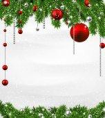 Jul bakgrund med spruce grenar. — Stockvektor
