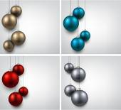 Backgrounds with colorful christmas balls.  — Stock Vector