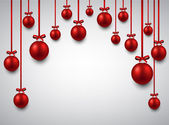 Background with red christmas balls.  — Stock Vector