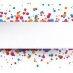 Confetti celebration background. — Stock Vector #62945939